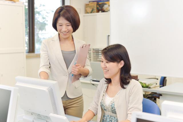 専用システムを使用した事務スタッフの募集。しっかりレクチャーします!