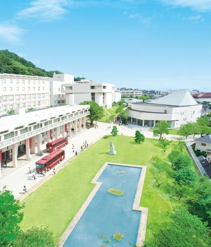 JR「甲南山手」駅から北方向!徒歩で通えますが、スクールバスの利用も可能です。