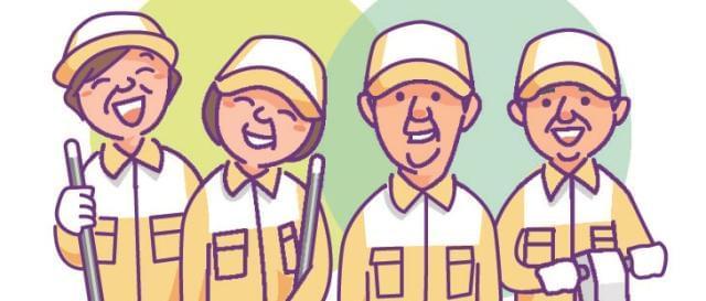 弊社は清掃スタッフ107名の実績。スタッフの働きやすい職場環境に努めています。