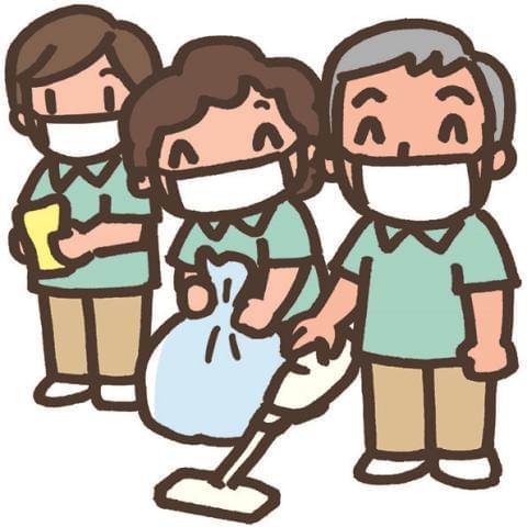 掃く・拭く・ゴミ回収・・など簡単作業です。 未経験の方もたくさん活躍しています♪