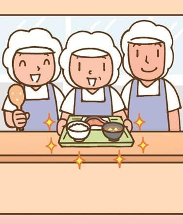 ここで働く社員さんの大切な活力となる、食堂でのお仕事!!
