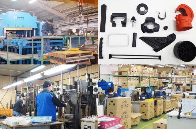 様々なゴム加工部品の製造。県内でも高いシェアの生産量を誇っています。★最近は若いスタッフもどんどん活躍中!