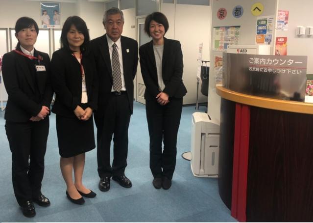 『京都駅前ライフプラザ訪問対応課』は笑顔あふれる楽しく元気なオフィスです。