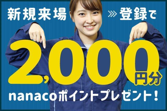 新規来場・登録でnanacoカード2000円分プレゼント! ※1人1回限り※規定有