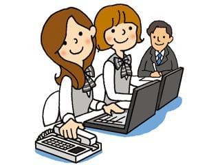 わたしたちと一緒に働きませんか!明るい仲間があなたをお迎えします!事務スタッフとして長くお仕事できますよ!