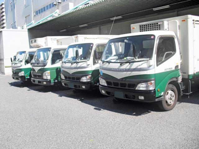 配送先は京阪神方面。全車にETCを搭載しているので、高速道路の使用もスムーズですよ。