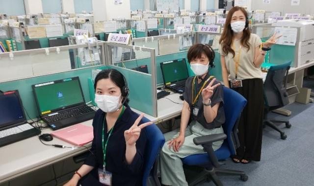 安心して働けるよう、コロナ感染防止対策も強化中!パーテーション・除菌グッズを各所に設置してます。
