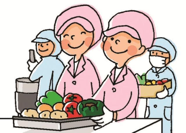 かわいい子どもたちの昼食と笑顔をつくるお仕事です♪