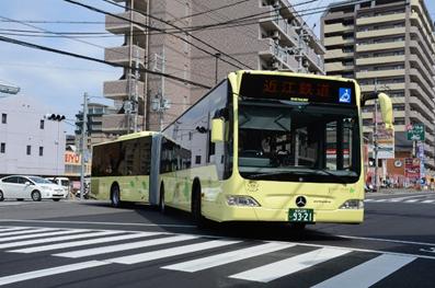 近江鉄道バスでは2016年4月から連節バス「JOINTLINER」の運行がスタートしました!
