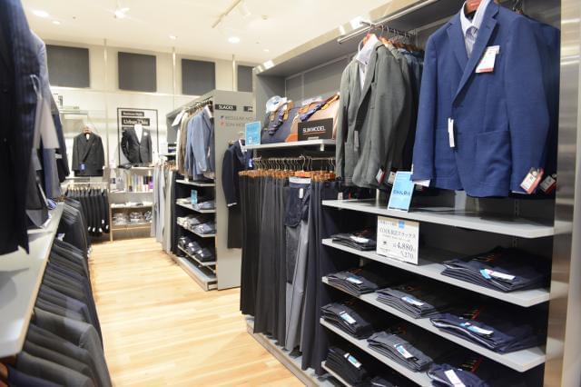 紳士スーツ、ジャケット、パンツ、カジュアルなどを取扱います。