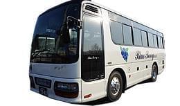 ブルーベリーのマークが目印の貸切観光バス★地域に根付いた会社です◎