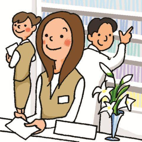 資格や経験は不問です♪人気の病院内の受付事務! 明るく笑顔で対応できる方をお待ちしています!
