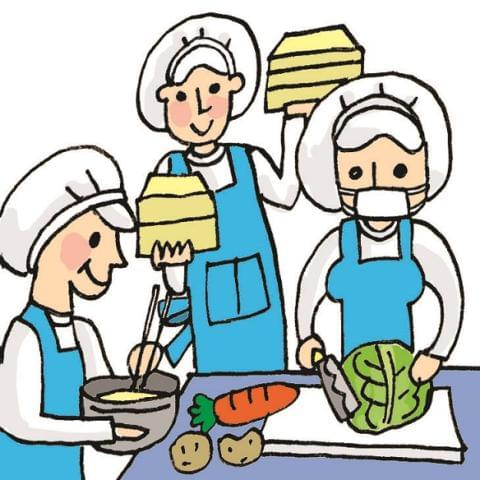 経験豊富な先輩たちが丁寧に教えて頂けます。学校給食経験がなくても大歓迎。