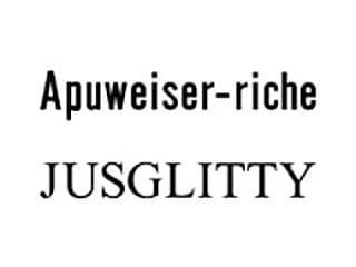Apuweiser-riche/JUSGLITTY