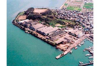 瀬戸内海を臨む児島半島の先端にある当社。美しい景色の中で気持ちよく働けますよ!